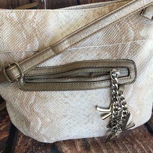 60f8fa4261c0 Kathy Van Zeeland Bags - Faux Snakeskin textured purse women s purse